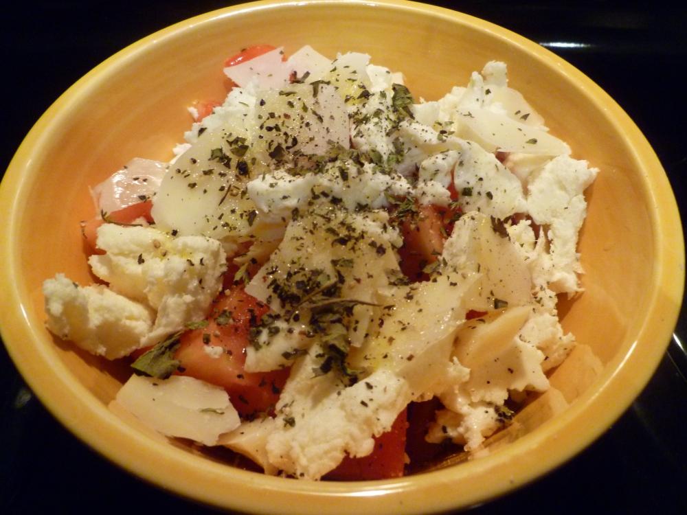 tomatoes&mozarella