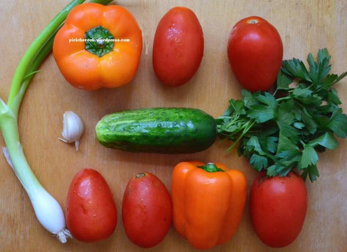 gazpacho veggies