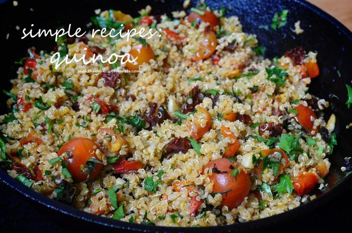 tomato garlic quinoa