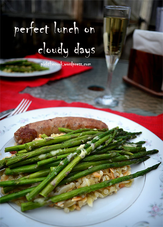 even smaller asparagus lunch