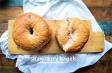 strawberry bagels small